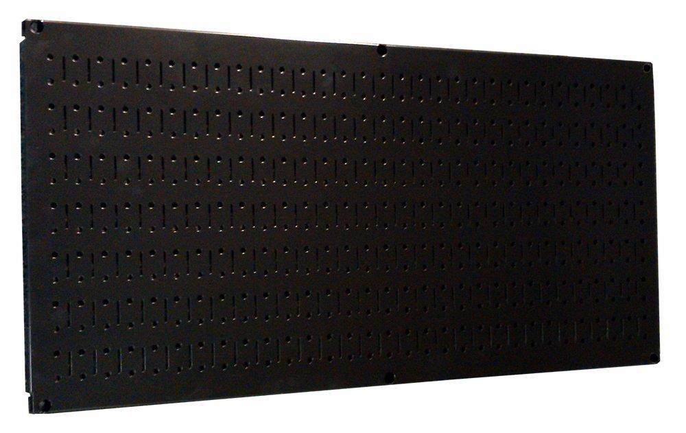 Wall Control 30-HP-1632 B 16'' x 32'' Horizontal Black Metal Pegboard Tool Board Panel
