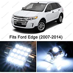 12 x Premium Xenon White LED Lights Interior Package Upgrade for Ford Edge (2007-