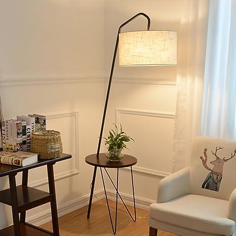 Meters Lampada da terra da pesca in legno massello tavolino lampada da  terra soggiorno divano comodino lampada da tavolo lampada da tavolo (Colore  : ...