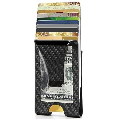 55b0a53c46 Portafoglio Clip, Porta Carte di Credito, Porta Tessere e Banconote con  Protezione RFID,