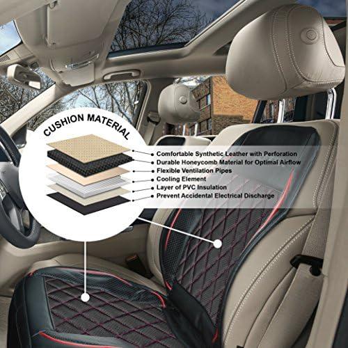 Almohadilla de enfriamiento para el coche f/ácil de instalar para el coche con ventilador para uso en el hogar y la silla de oficina color multicolor