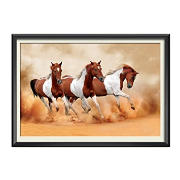 Wallpaper Hd Wall Stickers Decals HD Quality Running Horse For Vastu Posters Eco Solvent Vinyl S Size 18 X 12 Inch 45 30 Cm Without Frame