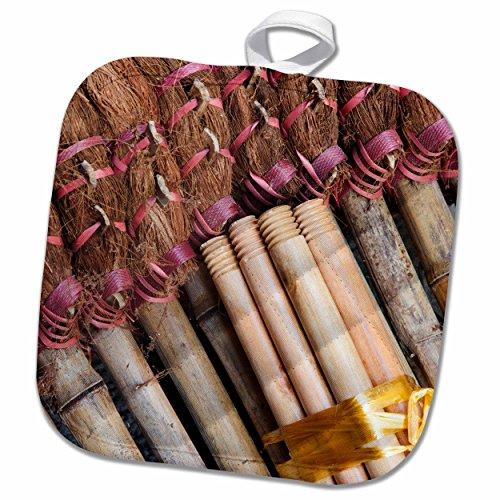 3dRose Danita Delimont – Hong Kong – Asia, China, Hong Kong. Handmade straw dust brooms – AS09 JEG0042 – Julie Eggers – 8×8 Potholder (phl_132501_1)