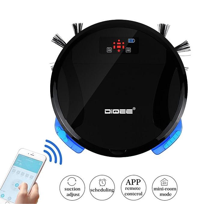 teckey® Wifi - Robot aspirador 330 C con función de carga y Smart Touch - Home - Potencia de U/O Deslizar con Silencioso Robot supercompacto.