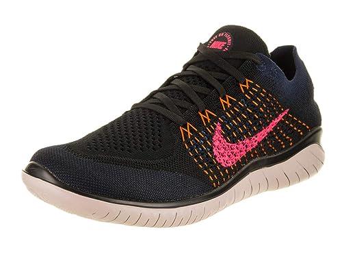 separation shoes 882ab 90042 Nike Free RN Flyknit 2018, Scarpe Running Uomo, Multicolore (Black Flash  Crimson