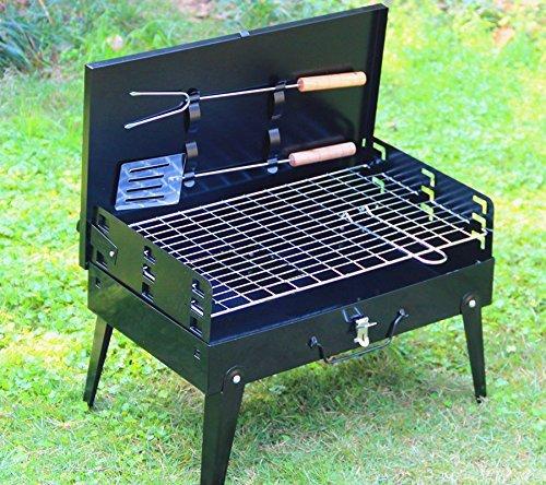 SunJas Griglia Pratica Portatile e Pieghevole Campeggio Mini Fornello Barbecue 5 spesavip