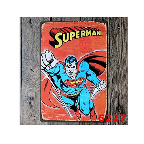 Club Tin Sign (Gent Superman Multi-series Retro Vintage Home Bar KTV Club Signs Tin Sign Decorative Signs 7.9in11.8in(20cm30cm))
