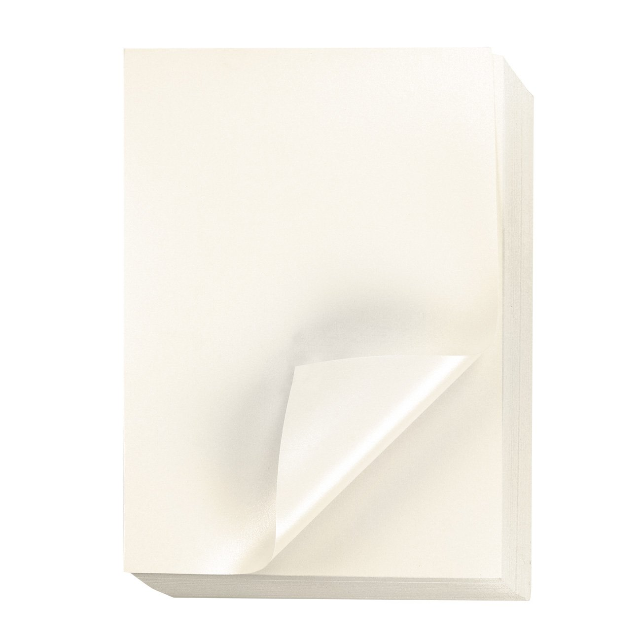 Ivory Metallic Paper - 96-Pack Shimmer Papers, Double Sided, Laser Printer Compatible, Perfect for Weddings, Baby Showers, Birthdays, Craft Use, 8.5 x 11 Inches by Best Paper Greetings