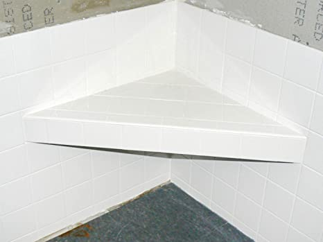 Goof Proof Corner Shower Seat GPSS-3024 Built-in Slope Levels 30 in and 24 in.