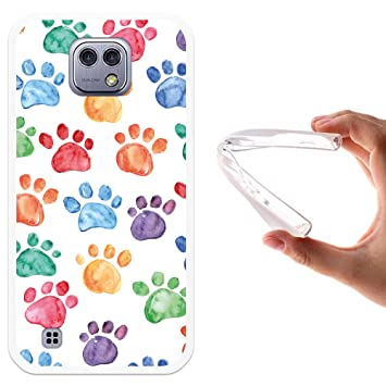 Funda LG X Cam, WoowCase [ LG X Cam ] Funda Silicona Gel Flexible Huellas Perro, Carcasa Case TPU Silicona: Amazon.es: Electrónica