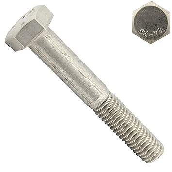 2 Stück M8X110 Sechskantschrauben DIN 933 Edelstahl A2