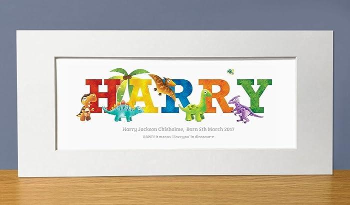 Dinosaur Personalised Name Print. Dinosaur name gifts, baby gifts ...