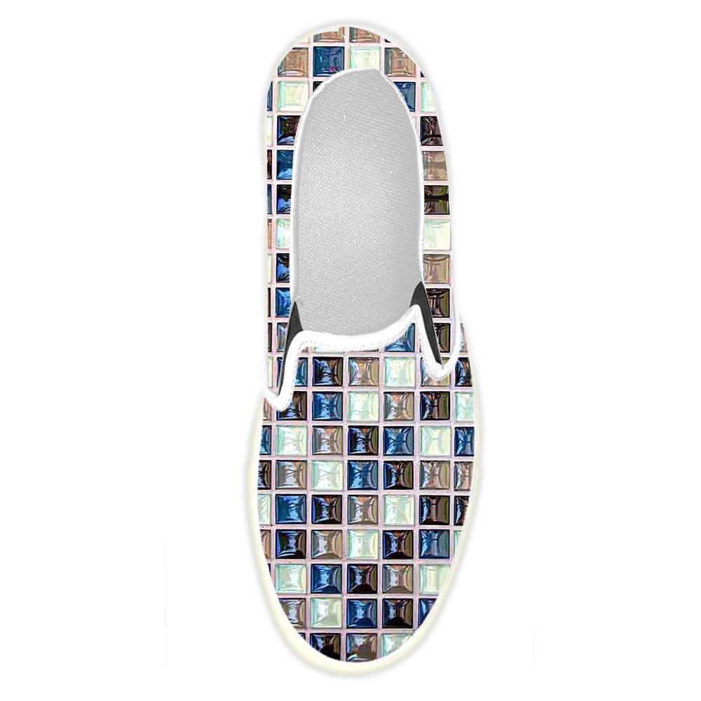 Mens Shoes Custom Classic Mosaic Tiles Slip-on Canvas
