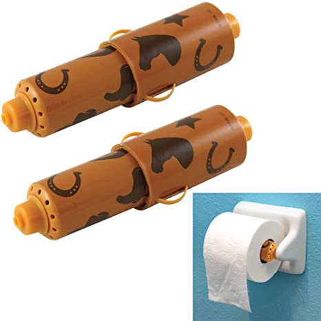 Amazon.com: (Set/2) Country Spin A Song Toilet Paper Holder - Every ...