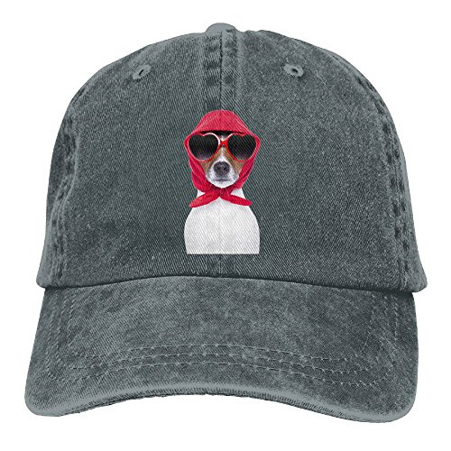 Arsmt Dog Red Heart Sunglasses Denim Hat Adjustable Womens Casual Baseball - Heart Tumblr Sunglasses
