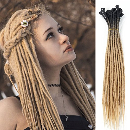 Synthetic Handmade Dreads dreadlock extensions reggae hair from nepal for hippie tribal 24inch
