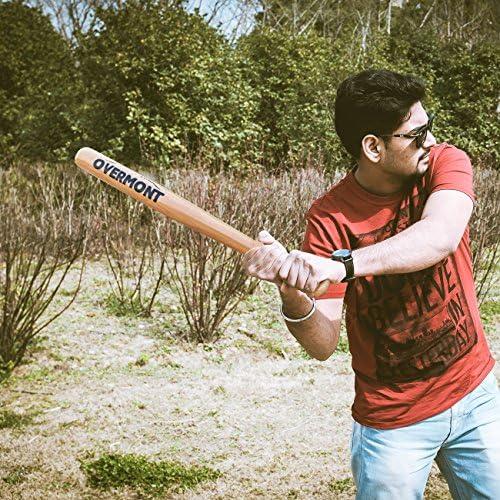 Overmont Batte de Baseball en Bois en Couleur du Bois Naturel Longueur 25//29//33