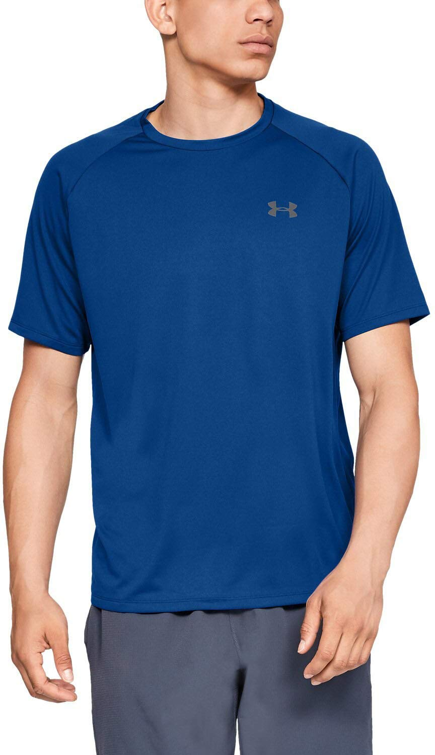 Under Armour Men's UA Tech Short Sleeve Tee 2.0, Royal/Graphite, XS-R
