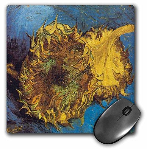 (3dRose BLN Vincent Van Gogh Collection - Two Cut Sunflowers by Vincent Van Gogh - MousePad (mp_128125_1))
