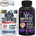Testosterone Booster For Men-(2 Pk Bundle, 180 Tablets & Capsules) Monster PM contains Sleep Aid to Build Muscle Mass, Boost Energy & Drive-All Natural Ingredients-Made In The USA-Best Gift for Dad.