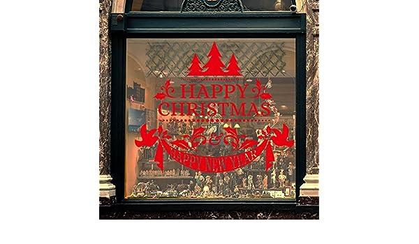 Darringls Navidad Decoración de Pared,Pegatinas de Ventana Papá Noel Retro Pegatinas de Pared Copo de Nieve Venado de Navidad Pegatina del Alfabeto ...
