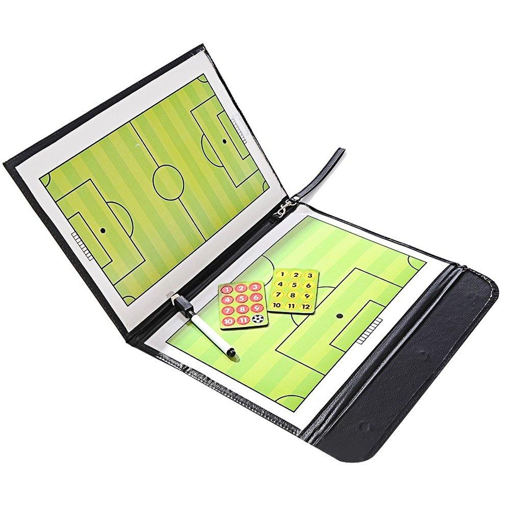 Elisona-Portable Folding Football Soccer Coach Magnetic Erasable Dry Erase Board Studying Winning Strategy Coaching Board