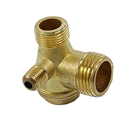 Air Compressor Replacement Parts >> Air Compressor Replacement Parts Male Threaded Gold Tone Brass Check Valve