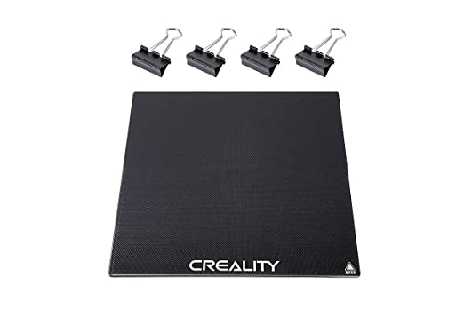 Creality Upgraded Ender 3 Glass Bed with 4 Binder Clips,Tempered Glass Heated Bed 3D Printer Platform Glass Plate Build Plate for Ender 3 Ender 3 Pro Ender 5 Ender 5 Pro Hot Glass Bed 235x235x4mm