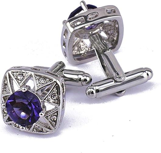 Aooaz Gemelos Cristal Cuadrado Cubic Zirconia Púrpura Blanco ...