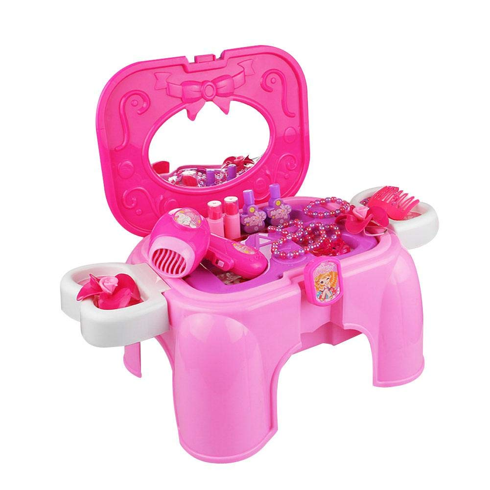 Children's Play Toy - Princess Dressing Table Toy Set Makeup Box Dressing Table Toy