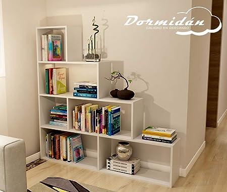 Dormidán- Estantería librería decoración, en Forma de Escalera, 140 x 136 x 25 cm: Amazon.es: Hogar