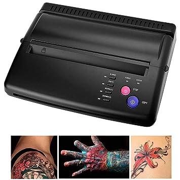 KJRJWS Tatuaje de transferencia negro de la plantilla de la ...