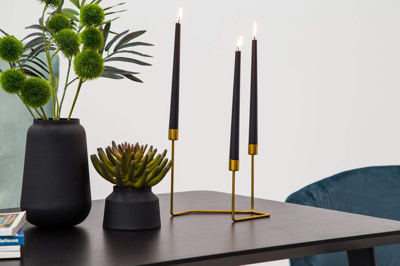 One Couture KERZENSTÄNDER Gold 10 ARMIG KERZENHALTER Design MODERN