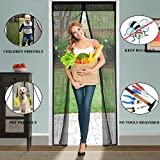 Magnetic Screen Door Curtain for Keeping Bugs Out, Kids and Pet Friendly Heavy Duty Magnets Mesh Curtain,Magnets Automatically Door Magic Mesh Curtain Fits Door Size up to 39