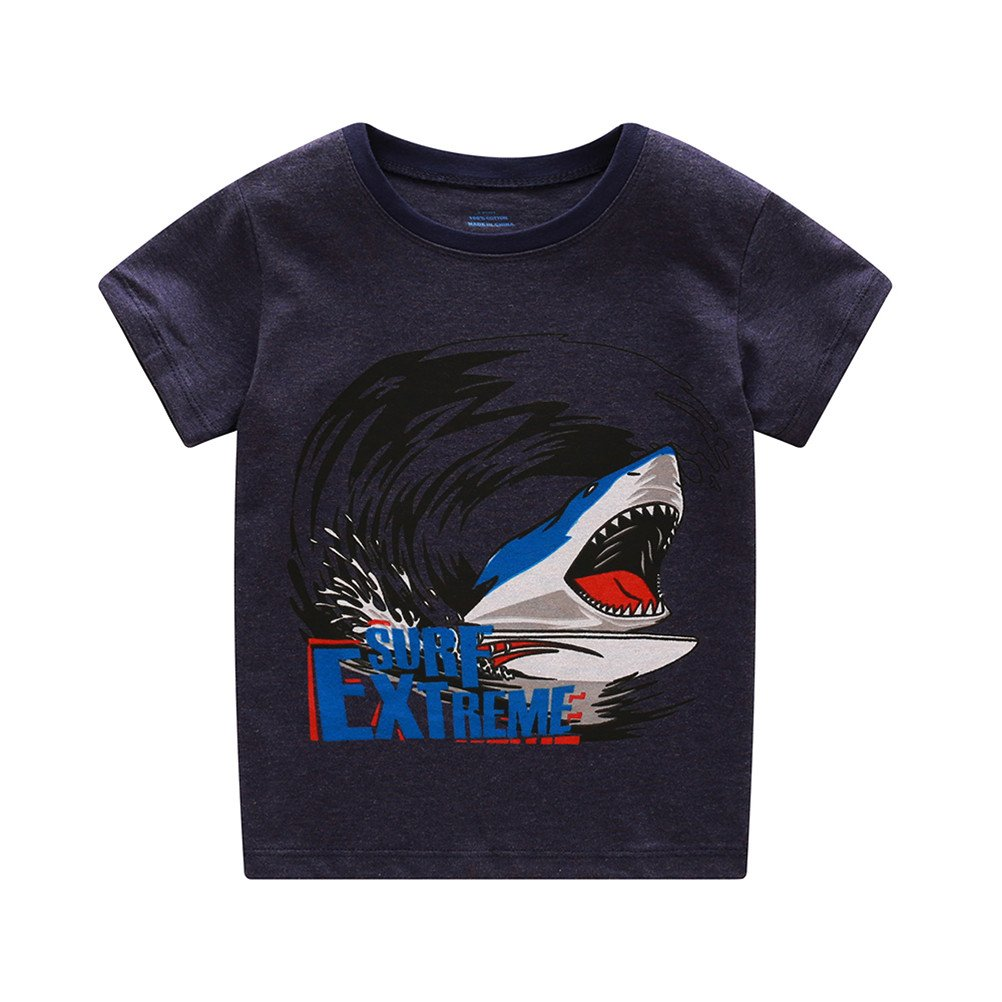 Boys Pajamas Cotton Short Sets Toddler Clothes Shark Kids Pjs Sleepwear 2 Piece