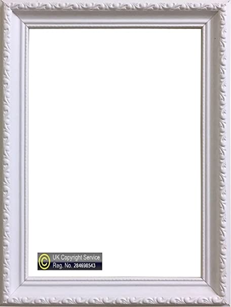 Enem Ornate Shabby Chic Plastic White Colour Picture Photo Frame A1