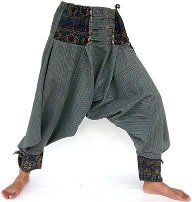 SHC Pantalones Harem para Hombre y Mujer Bombachos Hippie Aladino ...