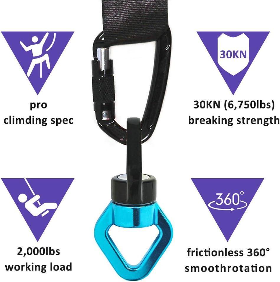 pivotant connecteur Rotor descalade Zimingu Swing Spinner Mousqueton pour lactivit/é de Plein air//op/érations en Hauteur//Sauvetage//Aventure//Descente en rotateur 360 /° en Alliage daluminium