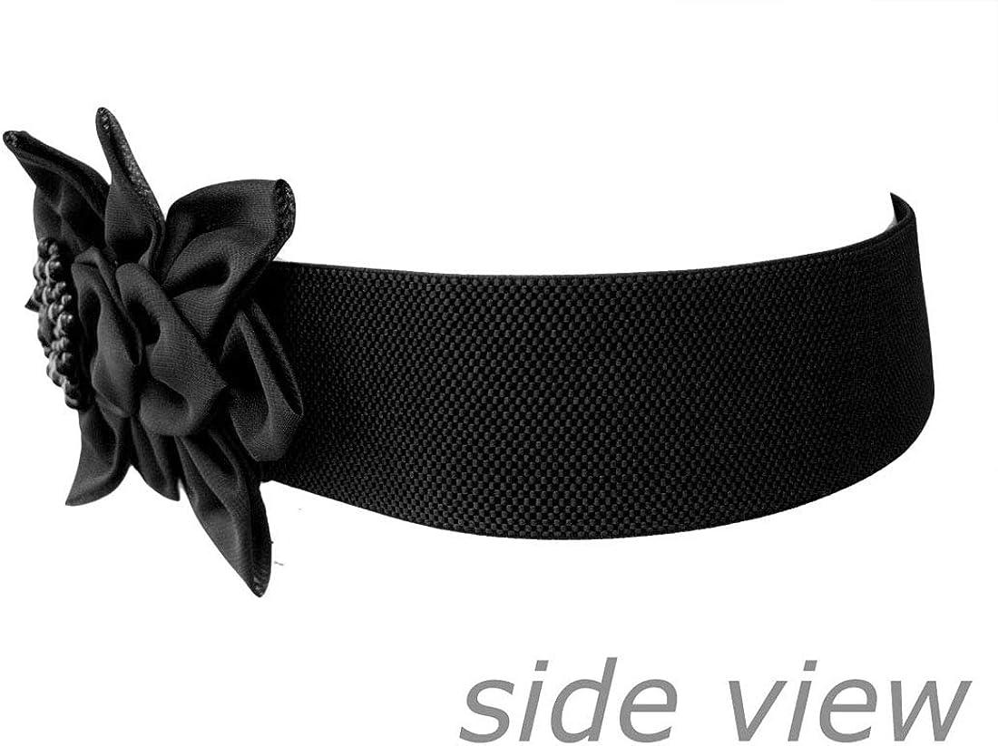 Nanxson Womens Elastic Ladies Fashion Dress Casual Belt with Decorative Flower PDW0050