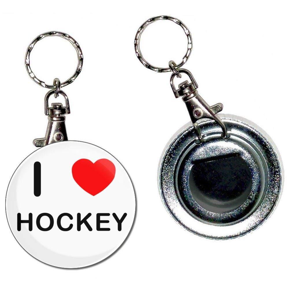BadgeBeast.co.uk I Love Hockey - Llavero con abridor de ...