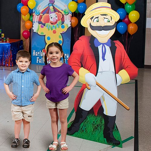 Carnival Circus Announcer Standee Standup Photo Booth Prop Background Backdrop Party Decoration Decor Scene Setter Cardboard Cutout