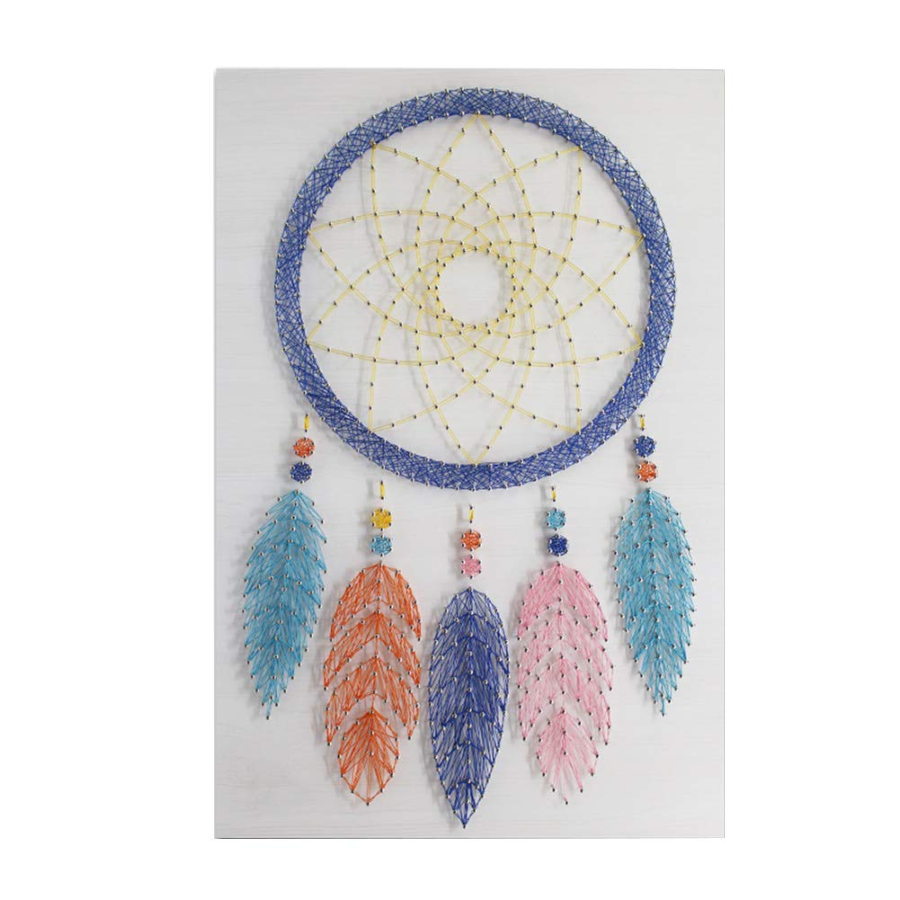 Home Decoration Dreamcatcher String Art Painting, Murals DIY Thread Winding Decorative Painting Materials Package Decompression Desktop Ornaments, Parent-Child Manual Interactive Games