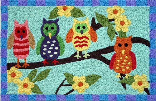 jelly bean rug owl - 8