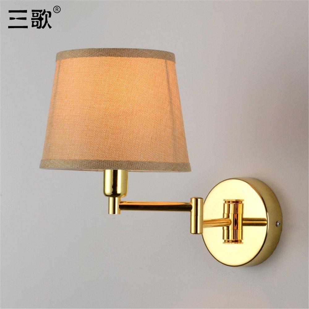 JhyQzyzqj lampada da parete Soggiorno camera da letto in stile americano parete TV Lampade da parete può essere ruotata di luci da parete applique da parete