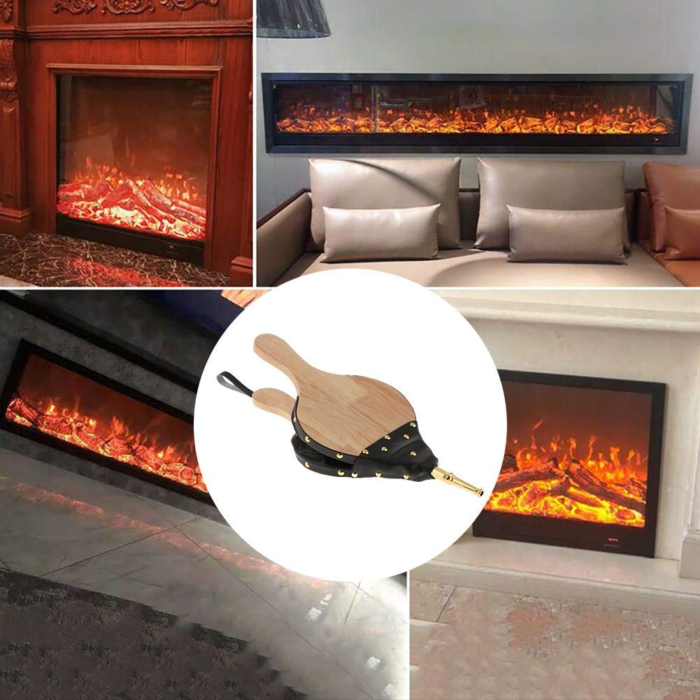 Mini Air Blower Fire Bellow Cast Nozzle Traditional Fire Lamp Camping Barbecue Stove Chimney Fire Pit for Home DIY Fireplace Accessories Funarrow Wooden Fireplace Bellows