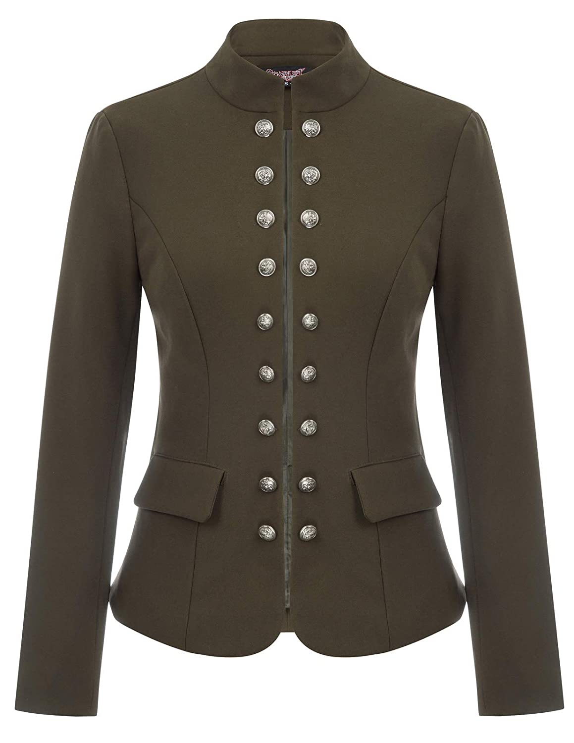 Steampunk Jacket | Steampunk Coat, Overcoat, Cape Womens Open Front Work Blazer Casual Buttons Jacket Suit Cardigan $45.99 AT vintagedancer.com