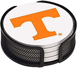 Thirstystone Stoneware Drink Coaster Set with Holder, University of Tennessee