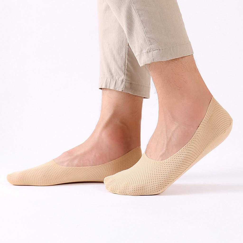 Bibao con calcetines antideslizantes para el tobillo para entrenadores Calcetines de seda para hombre y mujer 3 pairs de corte bajo 3 pares transpirables invisibles 168198 beige