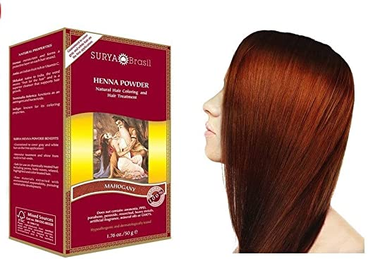Surya Brasil Polvo de henna caoba 50 g.