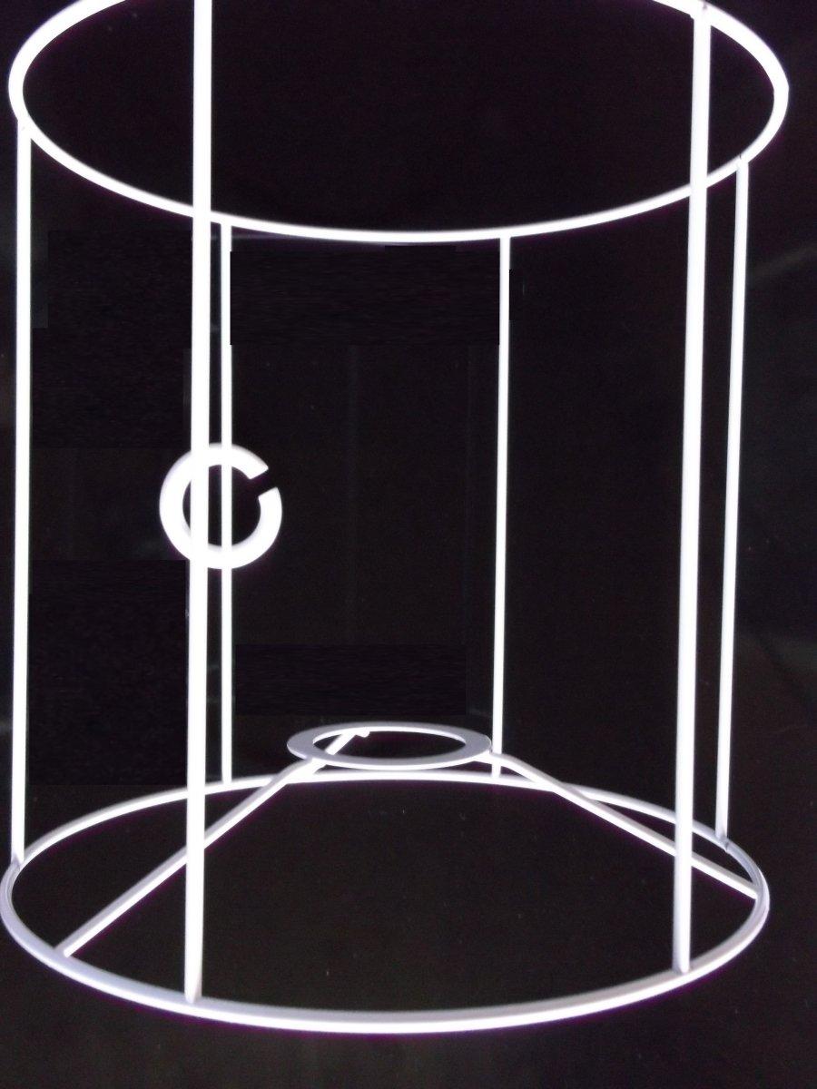 rund Lampenschirm-Gestell zylindrische Form wei/ß f/ür E14 /& E27 20 cm hoch /Ø 20 cm